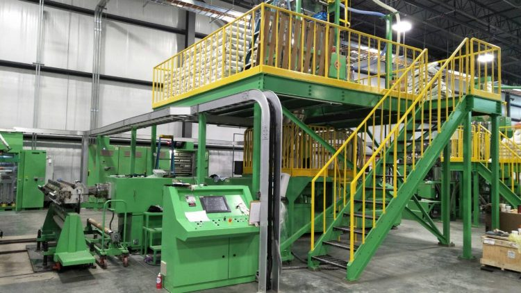 Japanese customer installs a new extrusion production line at their factory in America